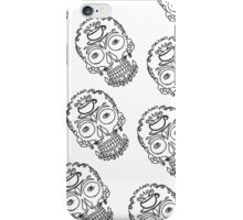 Calavera Cafe Black Skull Logo Pattern iPhone Case/Skin