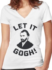 Let It Gogh Women's Fitted V-Neck T-Shirt