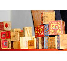 Vintage Blocks Photographic Print