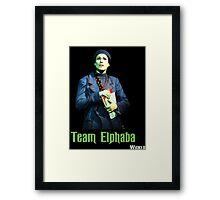 Team Elphaba - Wicked  Framed Print