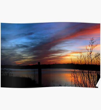 Louisiana Coastal Sunset  Poster