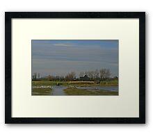 Polder Landscape Framed Print