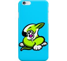 English Bull Terrier Kicking Back Lime and White  iPhone Case/Skin
