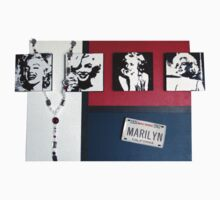 Many Faces of Marilyn Baby Tee