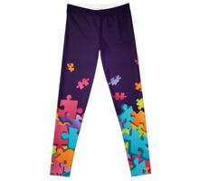 Dark Puzzle Pieces Leggings