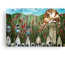 Three Blind Birds 2 - Woodcut Canvas Print