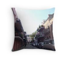 French Quarter Streetscape Throw Pillow