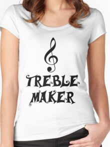 Treble maker Women's Fitted Scoop T-Shirt