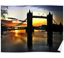 Tower Bridge Sunrise Poster