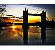 Tower Bridge Sunrise Photographic Print
