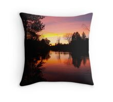 Sunset on the Manistee River Throw Pillow