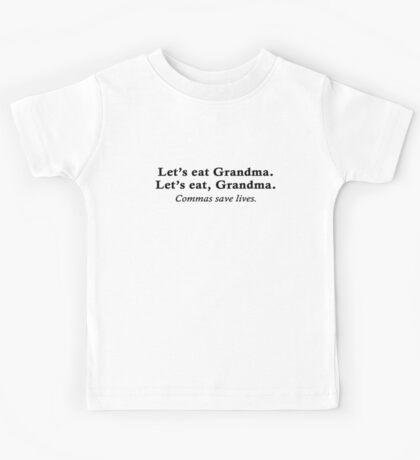 Let's eat Grandma Kids Tee