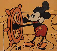 Disney Vintage Mickey Mouse Steamboat Willie COLOR by notheothereye
