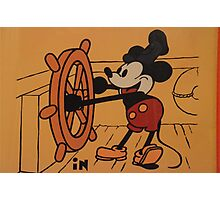 Disney Vintage Mickey Mouse Steamboat Willie COLOR Photographic Print