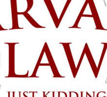 Harvard Law Sticker
