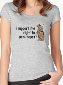 I support the right to arm bears Women's Fitted Scoop T-Shirt