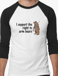I support the right to arm bears Men's Baseball ¾ T-Shirt
