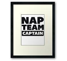 Nap Team Captain Framed Print