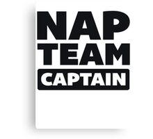 Nap Team Captain Canvas Print