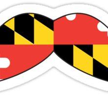 Maryland Flag Mustache Sticker