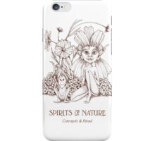 SPIRITS OF NATURE: Coreopsis & Friend iPhone Case/Skin