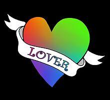 Lover's Heart (Black)  by kirbeekatz