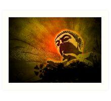 Buddha Bubbles Art Print