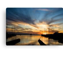 Long Beach Harbor Sunset Canvas Print