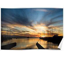 Long Beach Harbor Sunset Poster
