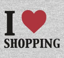 I Love Shopping - Funny Kids Tee