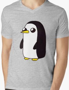 Penguin. Mens V-Neck T-Shirt