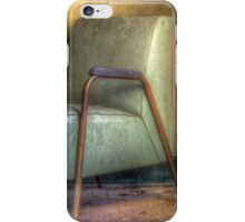 A Green Chair and A Yellow Wall iPhone Case/Skin