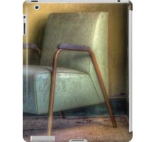 A Green Chair and A Yellow Wall iPad Case/Skin