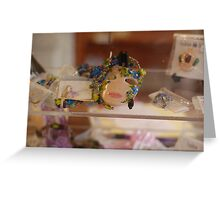 Mask pin - French Quarters Greeting Card