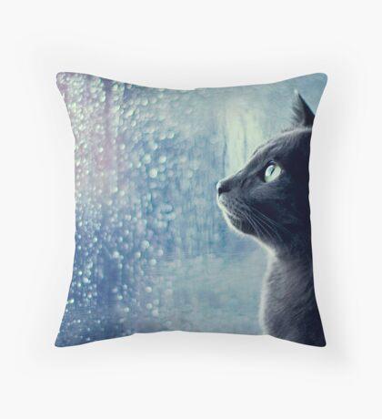 Kitty's Fascination Throw Pillow