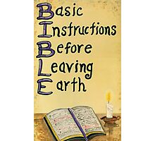 Meaning Of The Bible Photographic Print