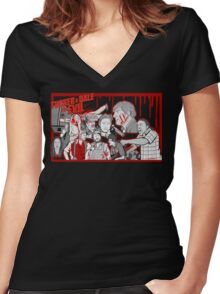 tucker and dale character collage Women's Fitted V-Neck T-Shirt