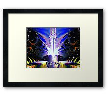Space Time 090 (Creation) Framed Print