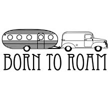 Born to Roam- 1940's Panel Van & Airfloat in Black by Ginger Young