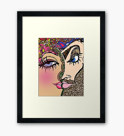 Double E Abstract Illustration Framed Print