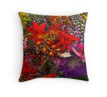 Assorted Flowers Throw Pillow