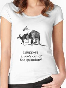 Kangaroos having fun Women's Fitted Scoop T-Shirt