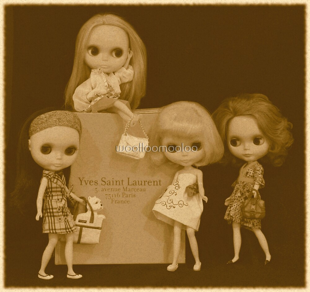 blythes and the city (sepia version) by woolloomooloo