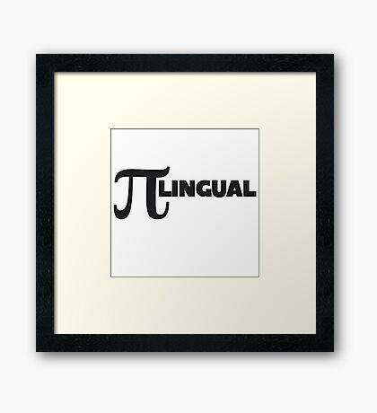 PI lingual Framed Print