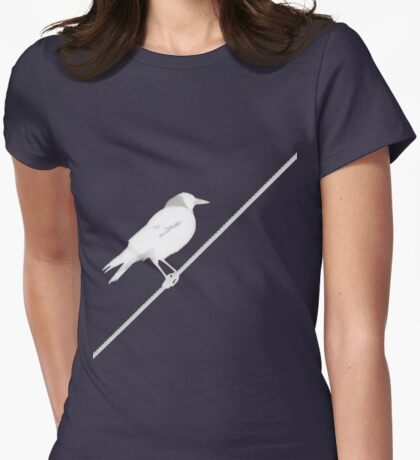 Bird on Wire Womens Fitted T-Shirt