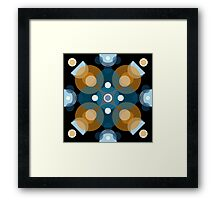 Blue & Orange Kaleidoscope Framed Print