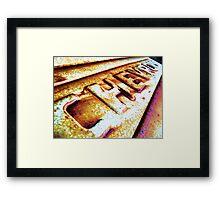 TAILGATE Framed Print