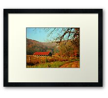 November Morning Framed Print