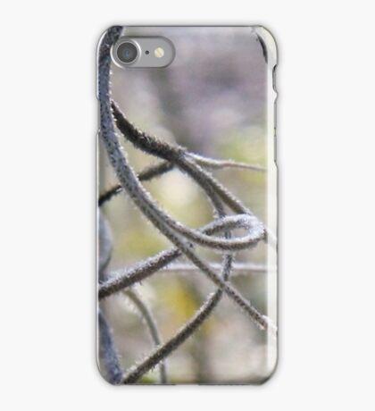 Spanish moss in macro with bokeh iPhone Case/Skin