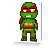 Raph TMNT 2012 Mini Pixel Greeting Card